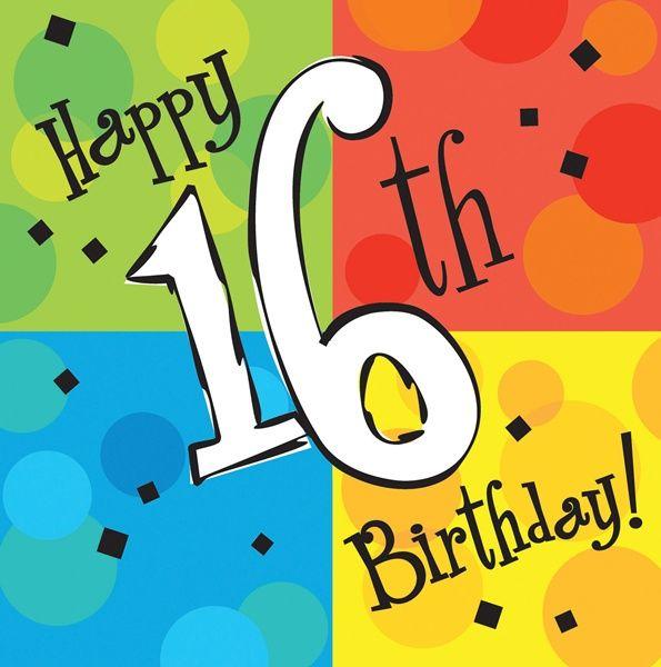 595x600 Happy 16th Birthday Clipart Atletischsport