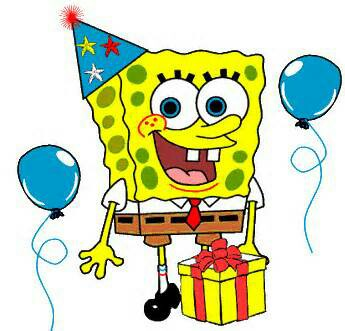 345x331 Birthday Clipart Spongebob