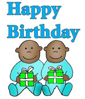 276x322 Happy Birthday Twins Clipart