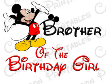 340x270 Mickey Mouse Brother Of The Birthday Boy Image Printable Clip Art