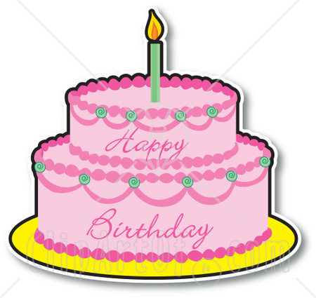 450x425 Birthday cake clipart 5