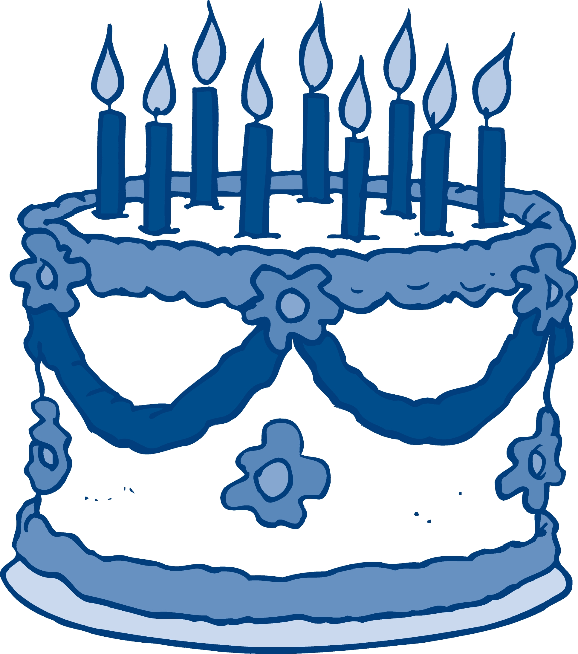 1934x2189 Blue Birthday Cake Clip Art Birthdaycake Clipart