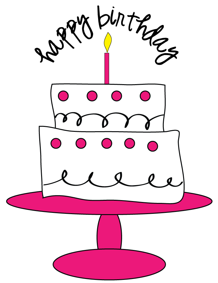 700x908 Happy Birthday Cake Clipart