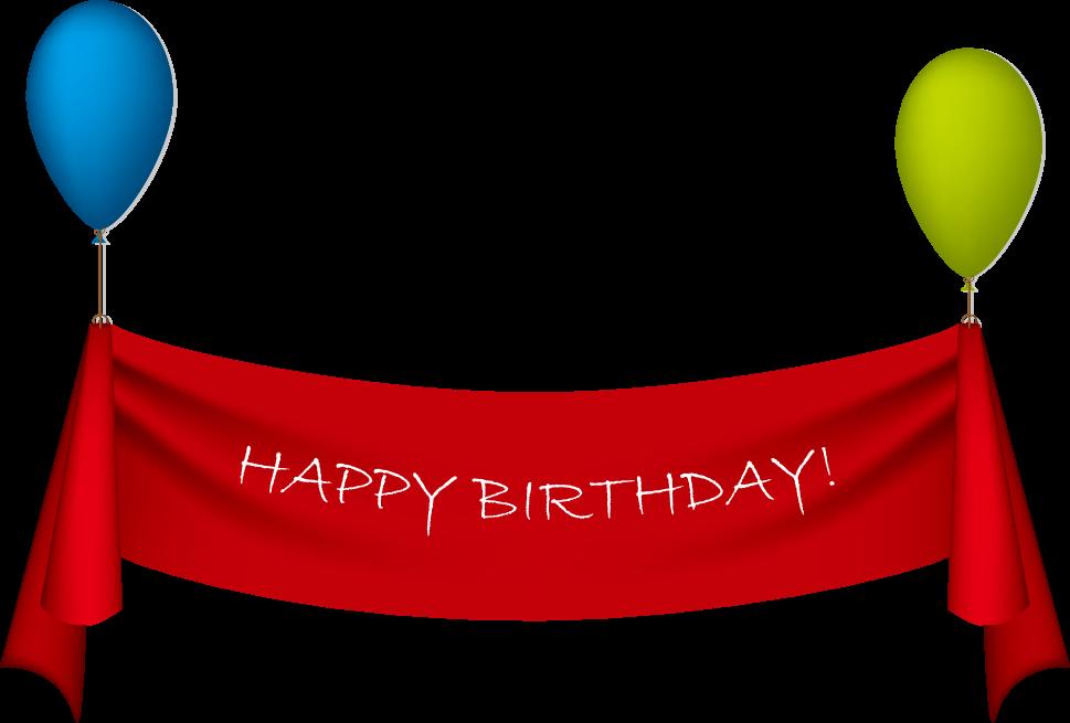 969x655 Birthday Ribbon Greeting Card Clip Art