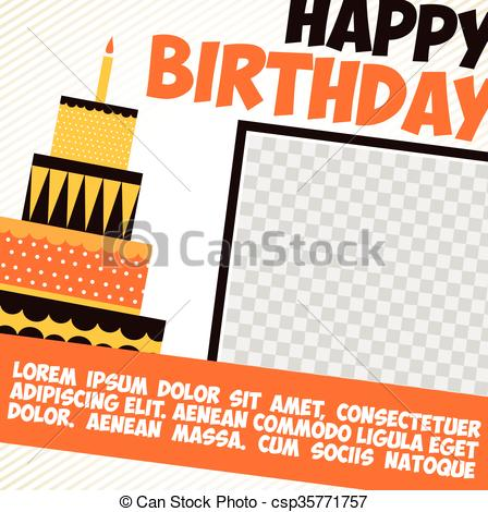 448x470 Birthday Card Vector Happy Birthday Card. Birthday Cake