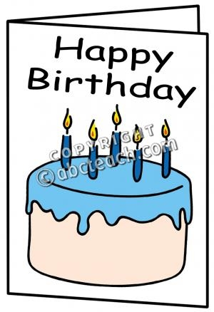 300x438 Happy Birthday Card Clipart Black And White