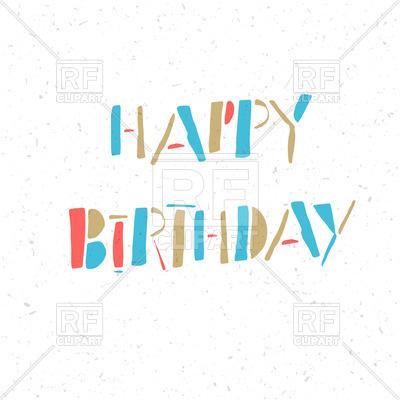 400x400 Happy Birthday Card Royalty Free Vector Clip Art Image