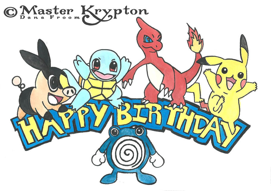 900x634 Pokemon Happy Birthday Clipart