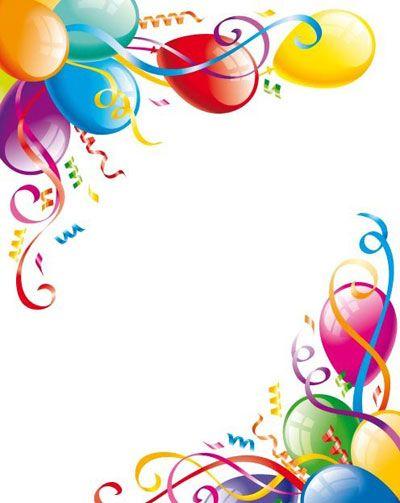 400x503 Birthday Party Clip Art Borders Balloon Border