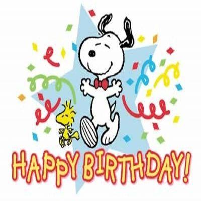 400x400 Ideal Snoopy Happy Birthday