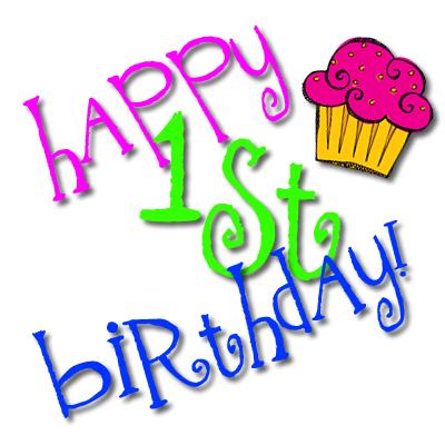 400x400 Happy 1st Birthday Clipart