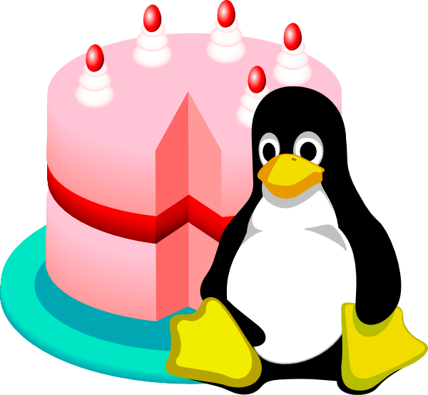 600x553 Happy Birthday Linux Clip Art