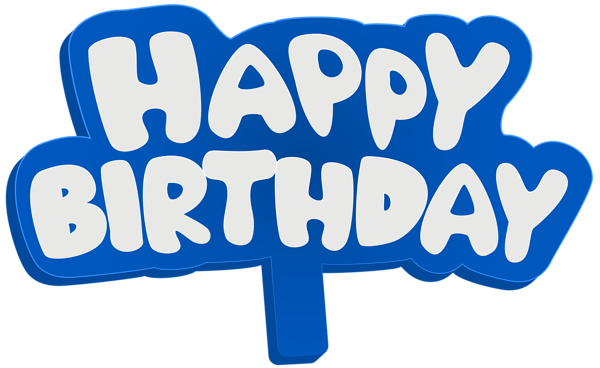 600x368 Blue Happy Birthday Sign Png Clip Art Imageu200b Gallery