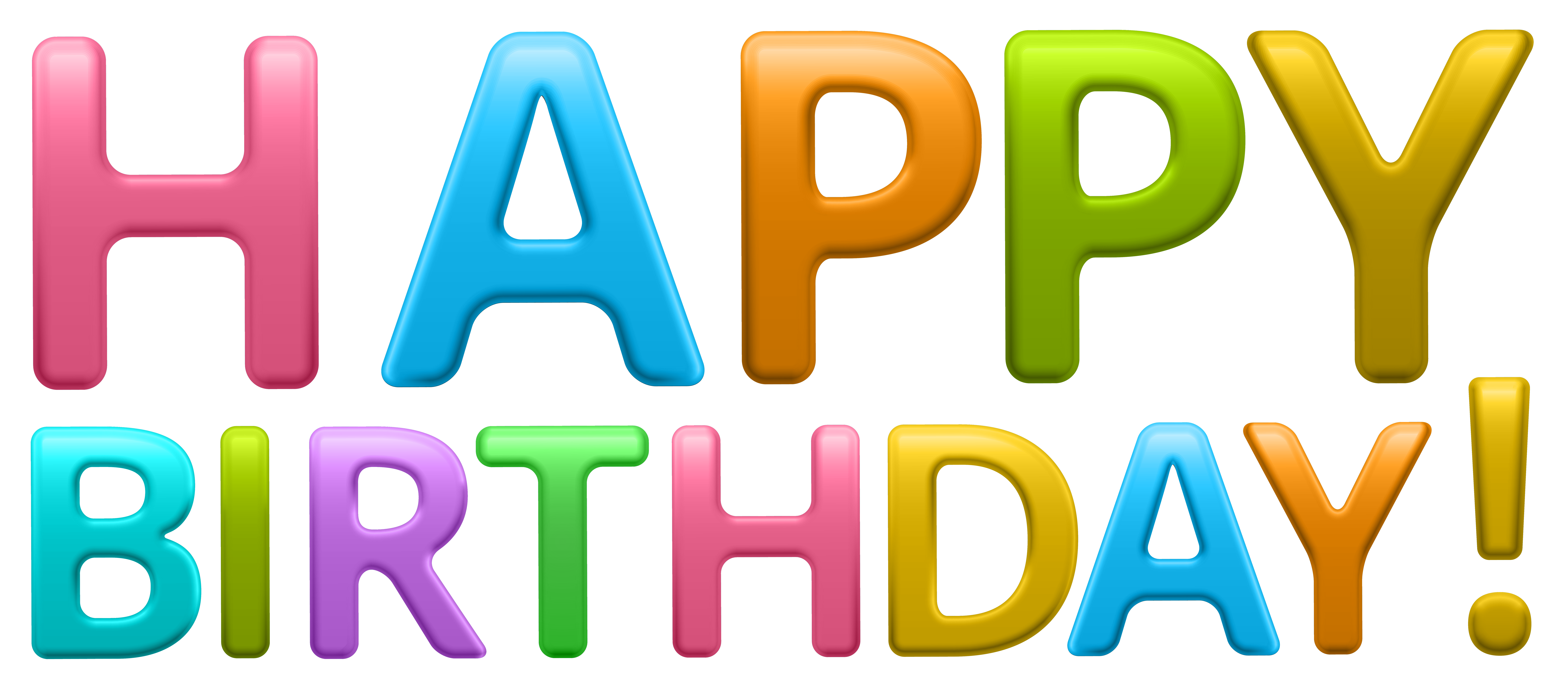 7000x3045 Colorful Happy Birthday Transparent Png Clip Art Imageu200b Gallery