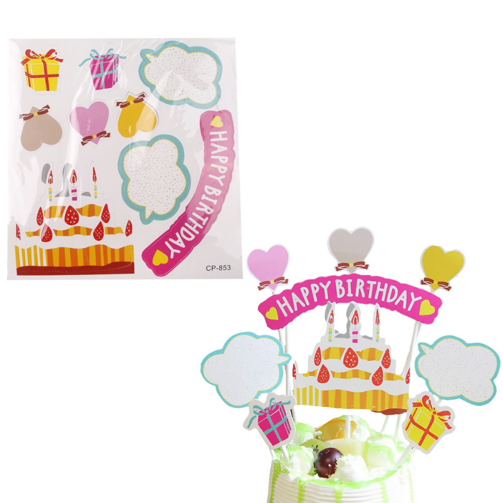 1000x1000 Fengrise 7 Styles 1set Happy Birthday Cupcake Toppers Birthday
