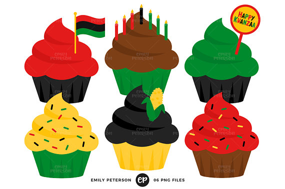 570x379 Kwanzaa Clip Art, Cupcakes Clipart, Holiday Cupcakes Clip Art