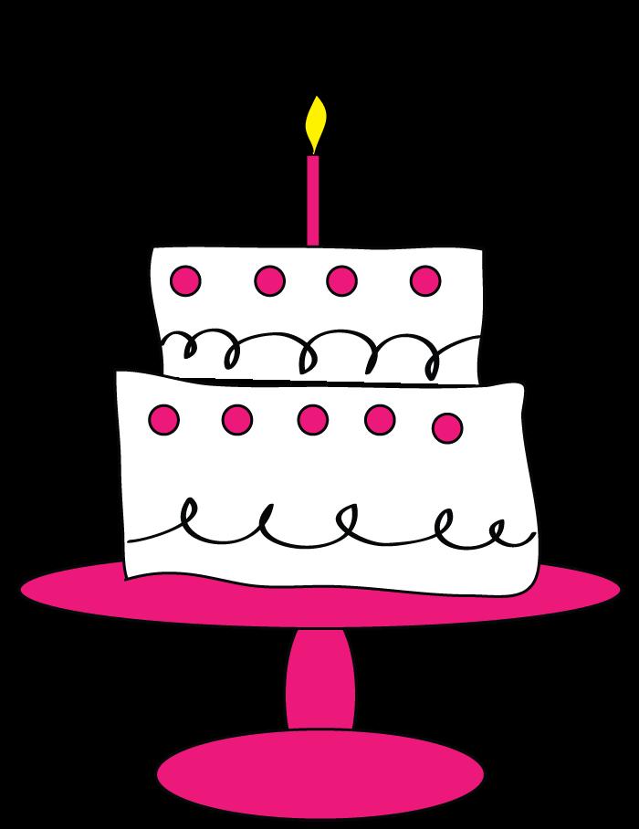 700x908 Pink Polka Dot Birthday Cake Clip Art Cupcake Clipart Happy
