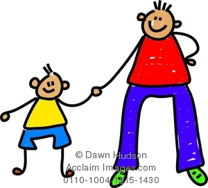 300x271 Clipart Image Of Happy Father Amp Little Son
