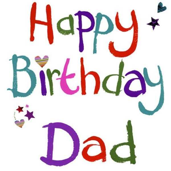 600x600 Happy Birthday Dad Clipart
