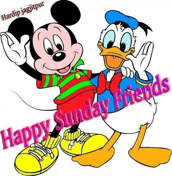 600x616 Happy Sunday Disney Amp Cartoons Happy Sunday