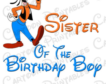 340x270 Mickey Mouse Sister Of The Birthday Boy Image Printable Clip Art