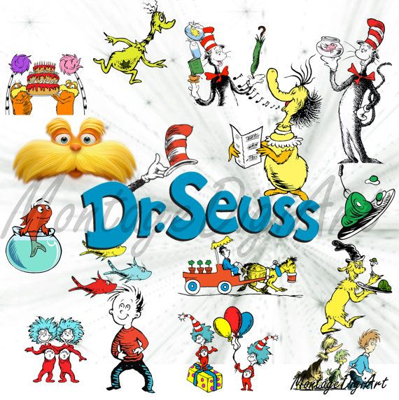 570x572 Dr. Seuss Clipart Group