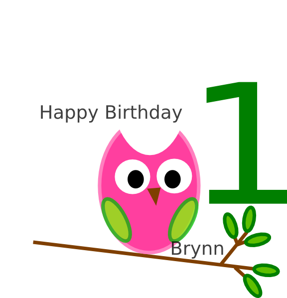 576x598 Birthday Owl Clip Art