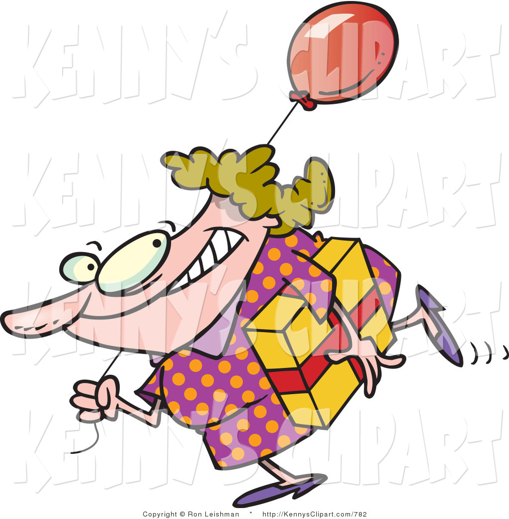 1024x1044 Cliprt Of Happy Birthday Girl In Polka Dot Dress, Carrying