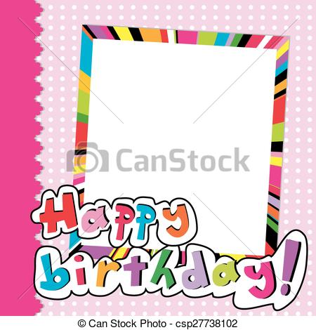 450x470 Happy Birthday Scrapbook For Baby Girl Vector Clipart