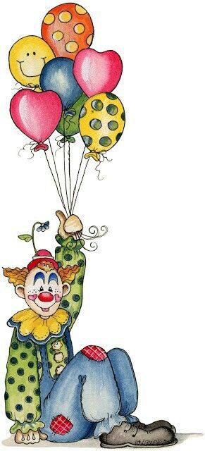 291x640 Create A Card ~clown With Balloons Card Design ~ Create A Card