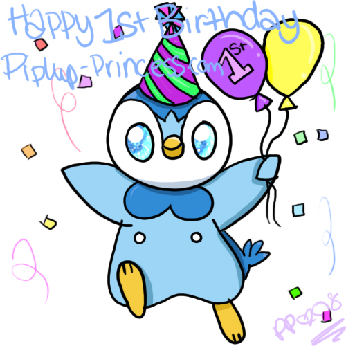 500x500 Happy First Birthday By Piplup Princess