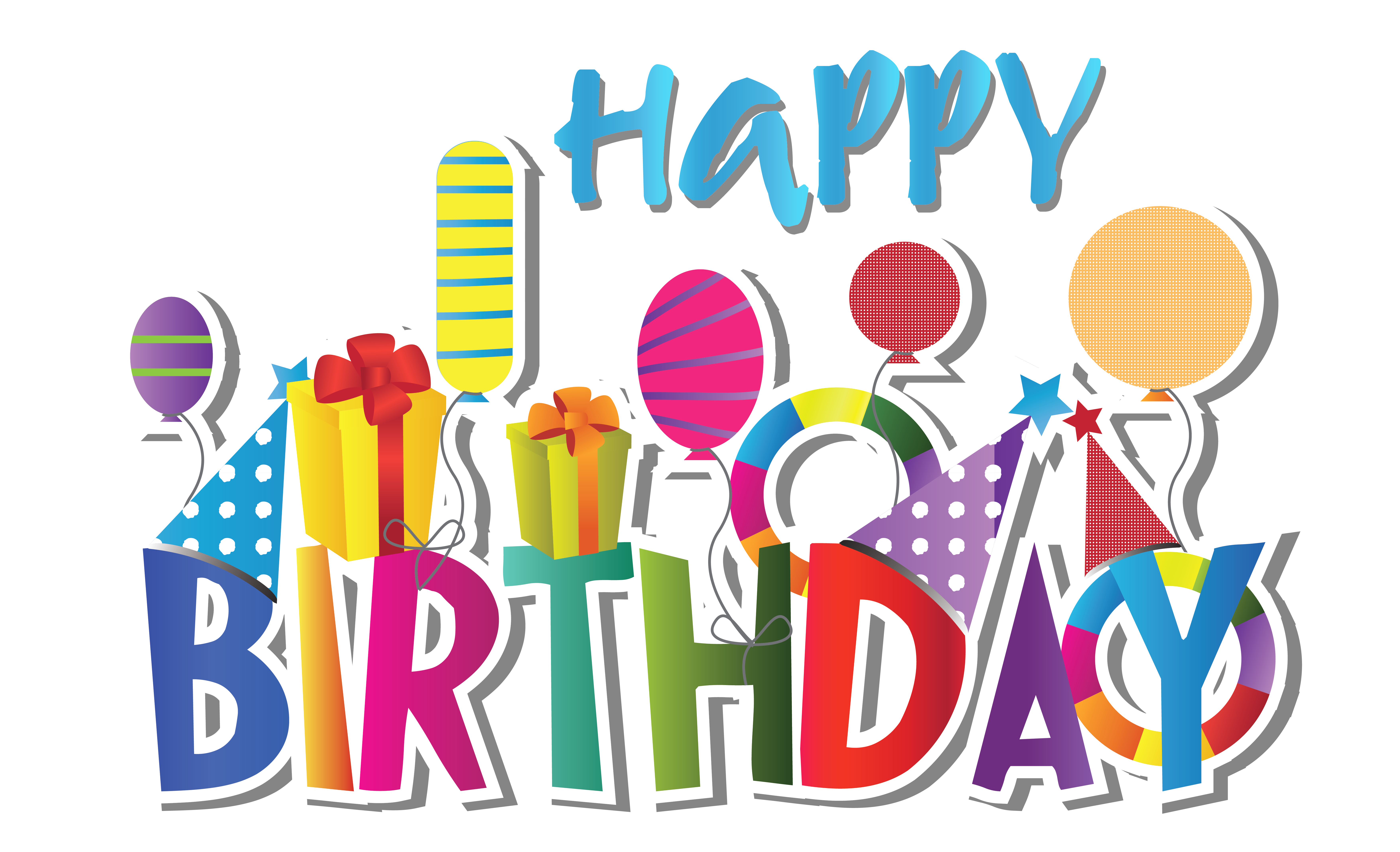 7028x4277 Collection Of Happy Birthday Clipart High Quality, Free