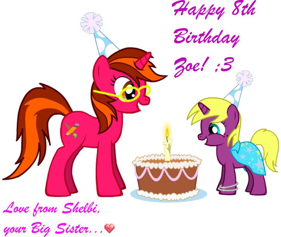 972x822 Happy 8th Birthday, Little Sister By Shelbi Cat