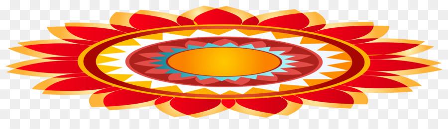 900x260 Diwali Rangoli Diya Clip Art