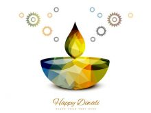 220x165 Free Diwali Clipart Burning Watercolor Diya On Happy Diwali
