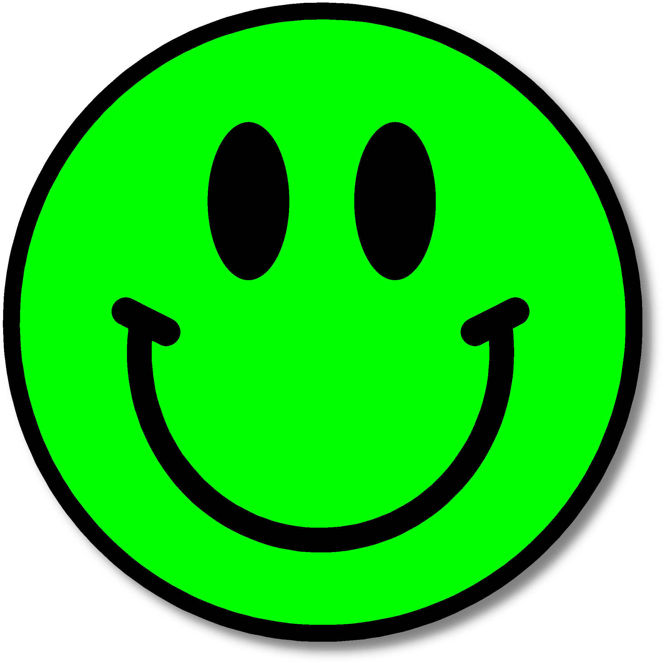 2118x2116 Green Happy Face Clipart