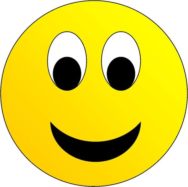 600x599 Happy Face Clip Art Smiley Face Emoticons Free Clipart Images