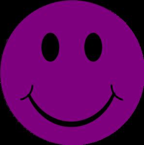 297x298 Dark Purple Happy Clip Art