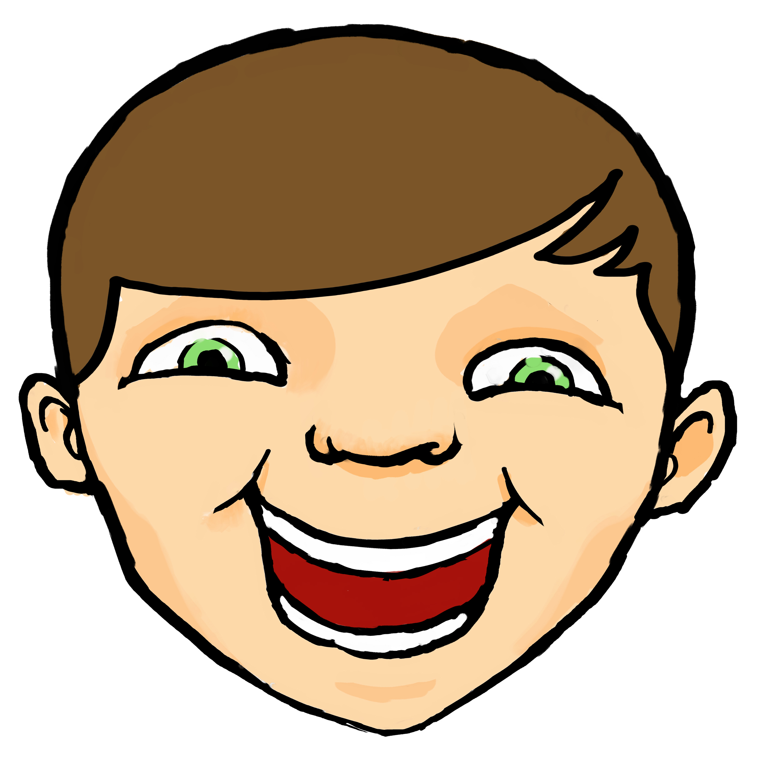 2480x2501 Freckles Clipart Happy Kid Face