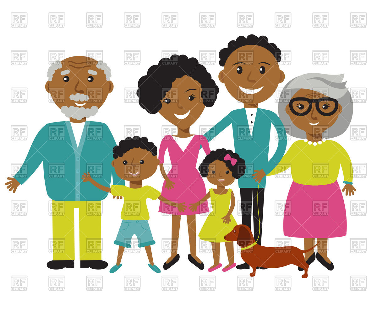 1200x989 Happy African American Family Vector Image Vector Artwork