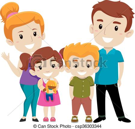 450x432 Vector Illustration Set Of Happy Family Eps Vector