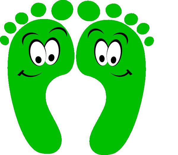 600x521 Green Happy Feet Clip Art