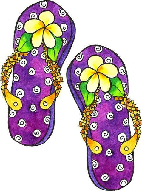 476x640 Happy Feet Flip Flops Summer Is Coming Aline Cards Digi Image