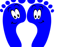 220x165 Happy Feet Clipart Blue Happy Feet Clip Art