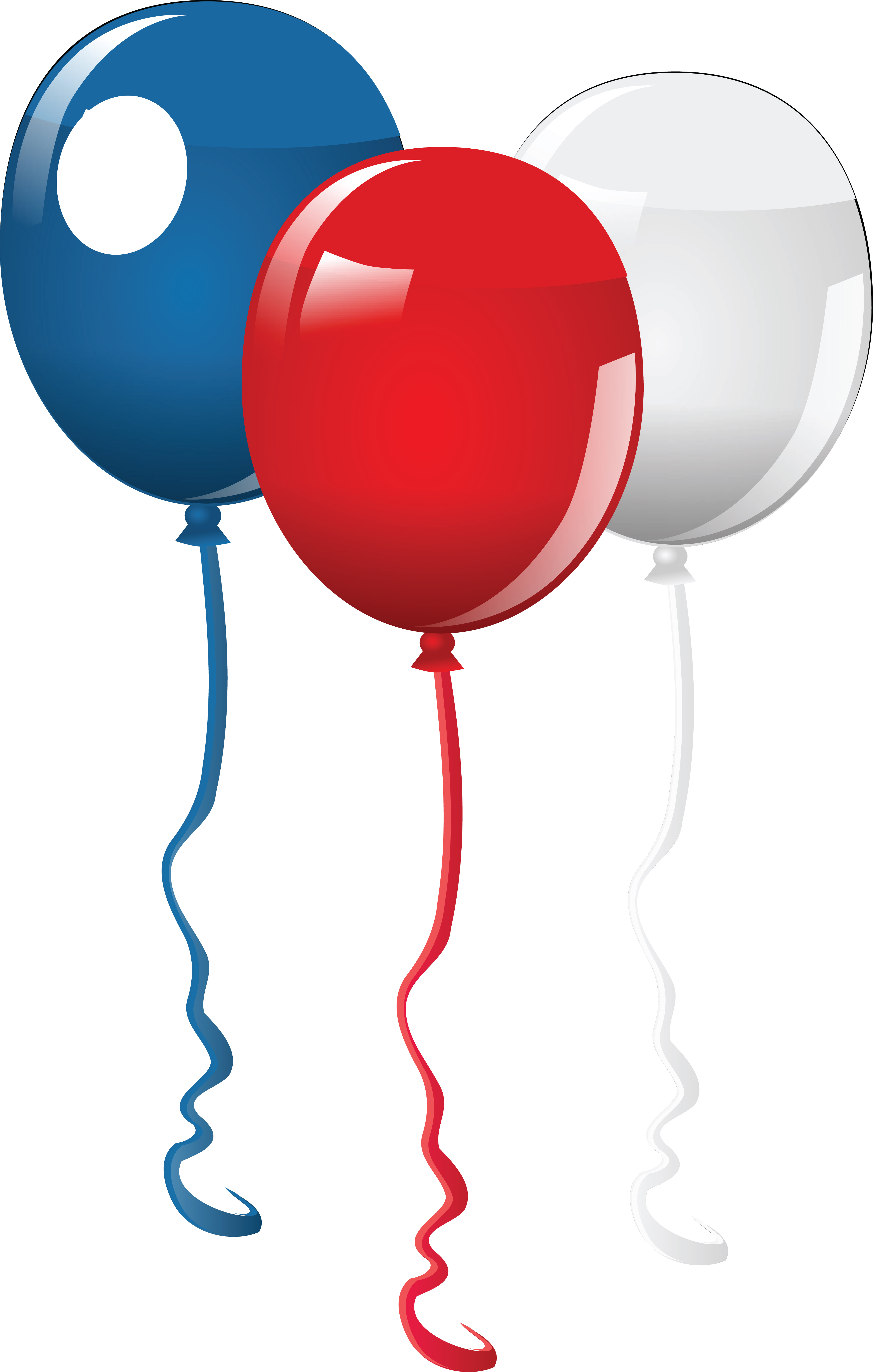 4000x6288 Free Clipart Of Fourth Of July Party Balloons