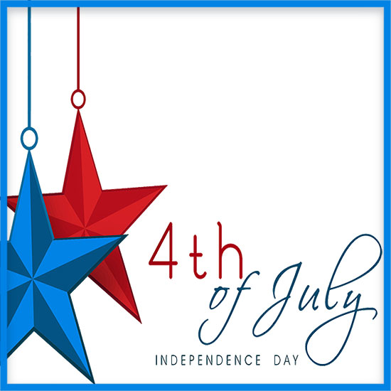 550x550 Independence Day Borders Clipart