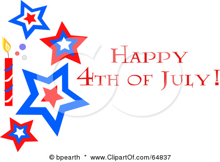 450x332 Stamp Happy July 4th Clipart