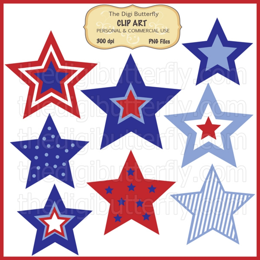 1024x1024 Star Clipart 4th July