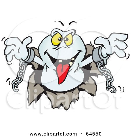 450x470 Clipart Of A Happy Ghost Giving A Thumb Up