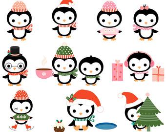 340x270 Cute Penguin Christmas Clip Art, Kawaii Christmas Penguin Clipart